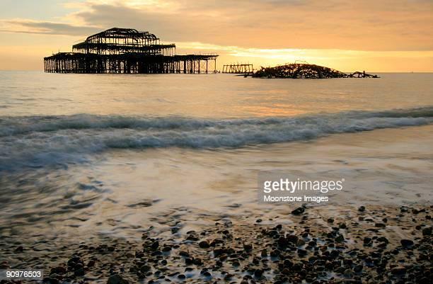 Brighton Pier in West Sussex, England