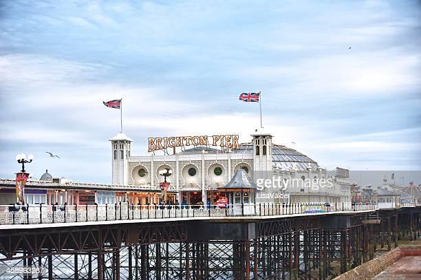 brighton pier - brighton stock photos and pictures