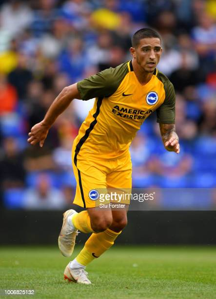 Brighton player Anthony Knockaert in action during the friendly match between Birmingham City and Brighton and Hove Albion at St Andrew's Trillion...