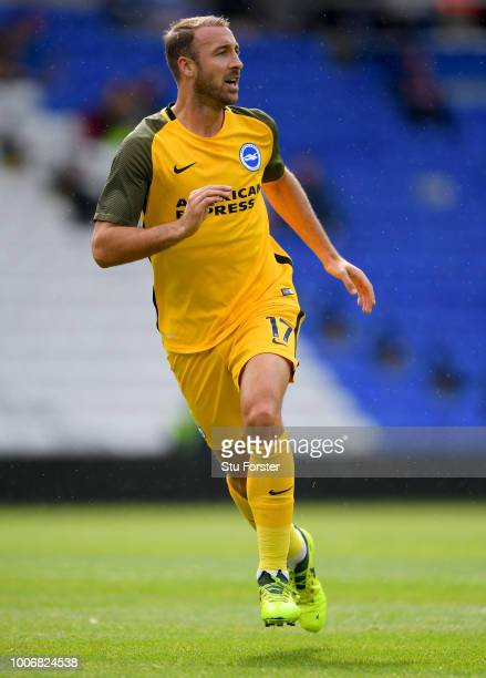 Brighton player Glenn Murray in action during the friendly match between Birmingham City and Brighton and Hove Albion at St Andrew's Trillion Trophy...