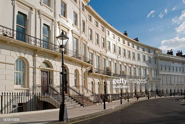 brighton regency crescent. - brighton stock pictures, royalty-free photos & images