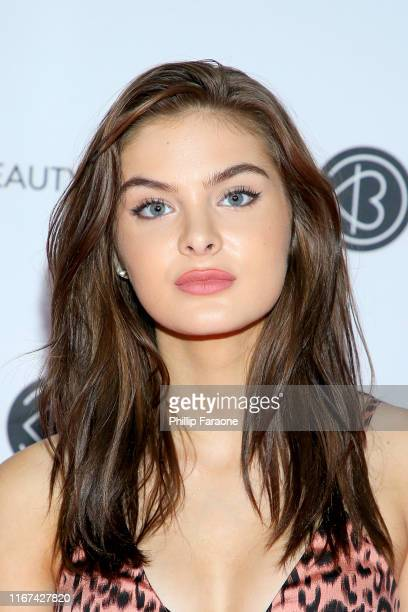 Brighton Sharbino attends Beautycon Los Angeles 2019 Pink Carpet at Los Angeles Convention Center on August 11 2019 in Los Angeles California