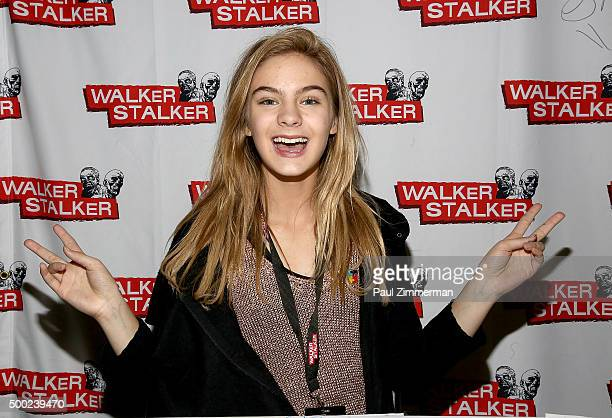 Brighton Sharbino attends the 2015 Walker Stalker Con at Meadowlands Exposition Center on December 6 2015 in Secaucus New Jersey