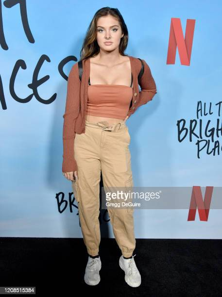 Brighton Sharbino attends the Special Screening Of Netflix's All The Bright Places at ArcLight Hollywood on February 24 2020 in Hollywood California