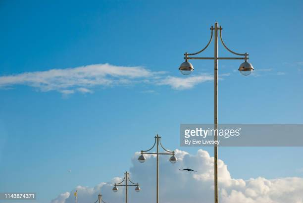 brighton street lights - flagpole stock pictures, royalty-free photos & images