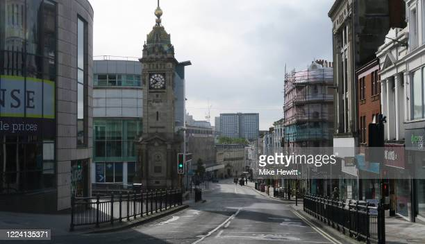 Brighton town centre is almost deserted at 750am on May 11 2020 in Brighton England The prime minister announced the general contours of a phased...