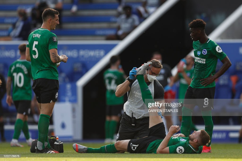 FBL-ENG-PR-LEICESTER-BRIGHTON : News Photo