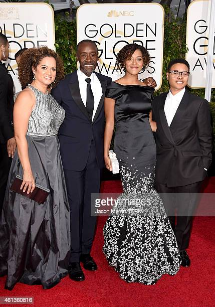 Brigid Coulter actor Don Cheadle and Guests attend the 72nd Annual Golden Globe Awards at The Beverly Hilton Hotel on January 11 2015 in Beverly...