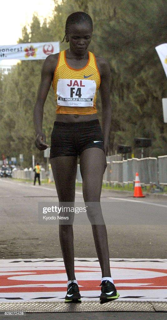Kenya's Kosgei wins Honolulu Marathon women's race : News Photo