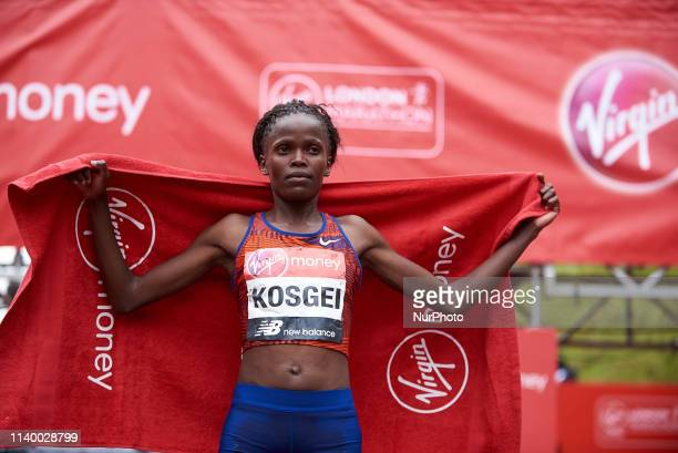 Brigid Kosgei the youngest athlete to win the Maiden women's title in the London Marathon on Sunday April 28th 2019
