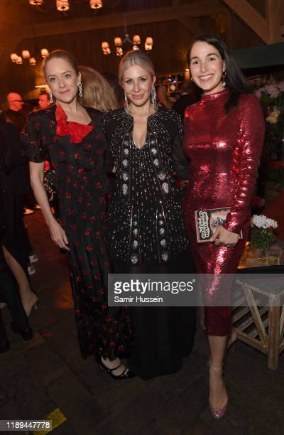 Brigid Walsh Carmen Busquets and guest attend the gala dinner in honour of Edward Enninful winner of the Global VOICES Award 2019 during #BoFVOICES...