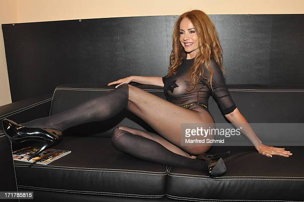 Brigitta Cimarolli poses for a photograph during the Penthouse cover release party at Maxim Nightclub on June 27 2013 in Vienna Austria