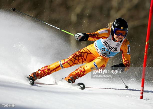 Brigitte Acton of Canada competes in her first run during the FIS Womens Alpine World Cup Giant Slalom on November 25 2006 in Aspen Colorado
