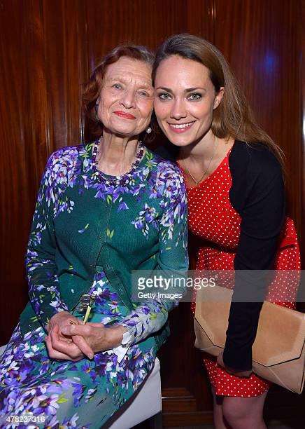Brigitte Antonius and Sarah Maria Besgen attend the Studio Hamburg Nachwuchspreis 2015 at Thalia Theater on June 23 2015 in Hamburg Germany