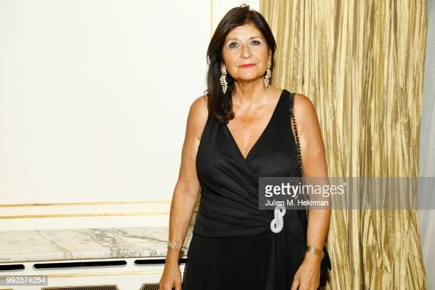 Brigitte Baranes attends the Liu Lisi Charity Gala Dinner with Unicef at Hotel Plaza Athenee on July 5 2018 in Paris France