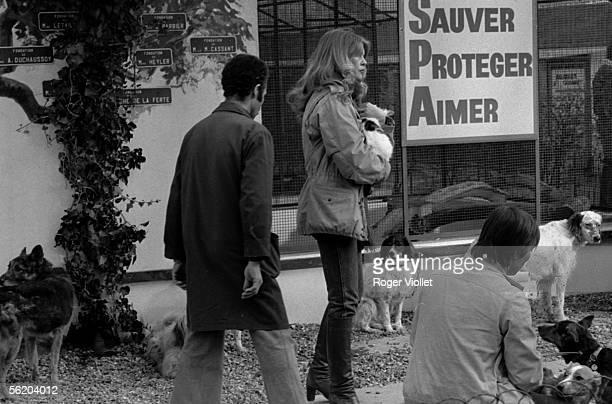 Brigitte Bardot and Allain BougrainDubourg France february 1982