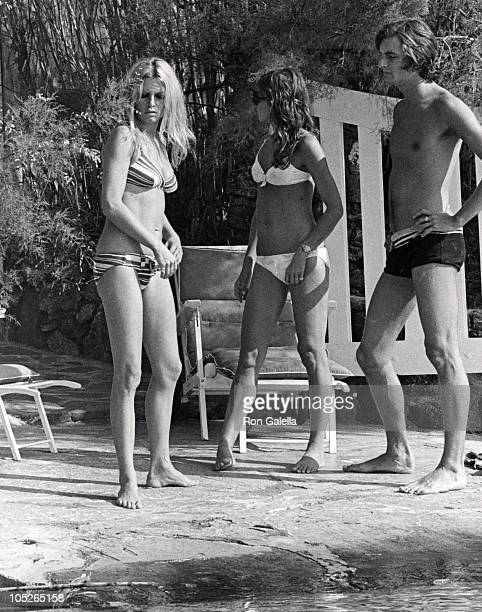 Brigitte Bardot and guests during Brigitte Bardot Waterskiing With Friends Behind Her House at Home of Brigitte Bardot in St Tropez France