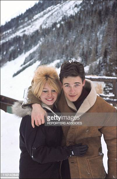 Brigitte Bardot and Jacques Charrier in France in December 1961