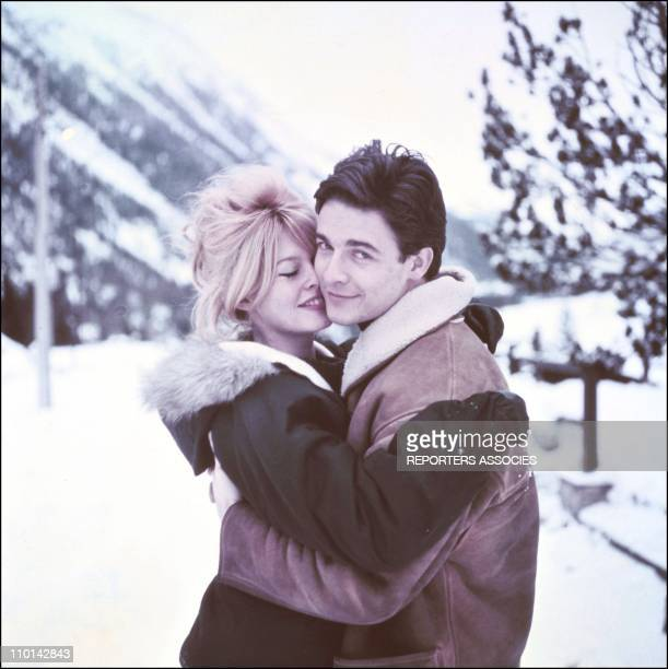 Brigitte Bardot and Jacques Charrier in France on December 01 1960