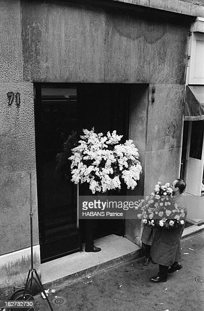 The Birth Of Their Son Nicolas 50 corbeilles de fleurs sont arrivées au 71 avnue Paul Doumer pour la naissance de Nicolas Charrier Janvier 1960