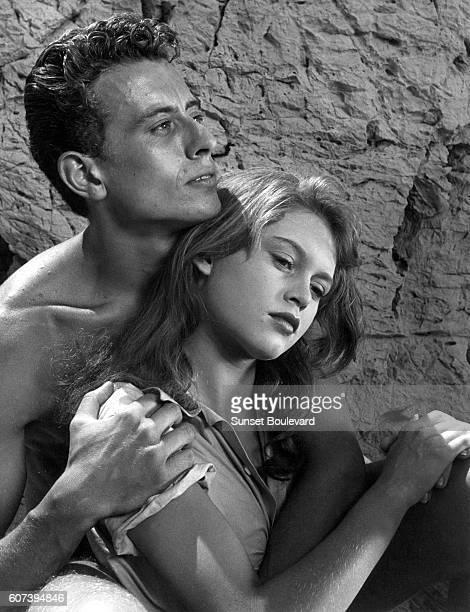 Brigitte Bardot and JeanFrançois Calvé on the set of 'Manina La Fille Sans Voile'