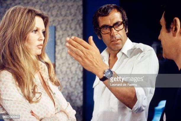 Brigitte Bardot and Roger Vadim on the set of Don Juan 73 directed by Roger Vadim