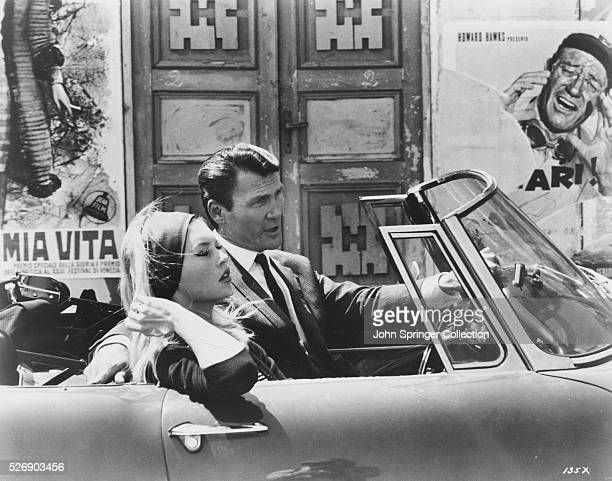 Brigitte Bardot as Camille Javal and Jack Palance as Jeremy Prokosch in Contempt