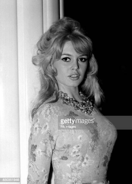 Brigitte Bardot at a London Hotel during a photocall for her latest movie Babette Goes to War