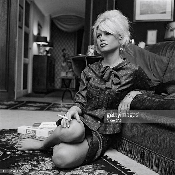 Brigitte Bardot at home in France in January 1962