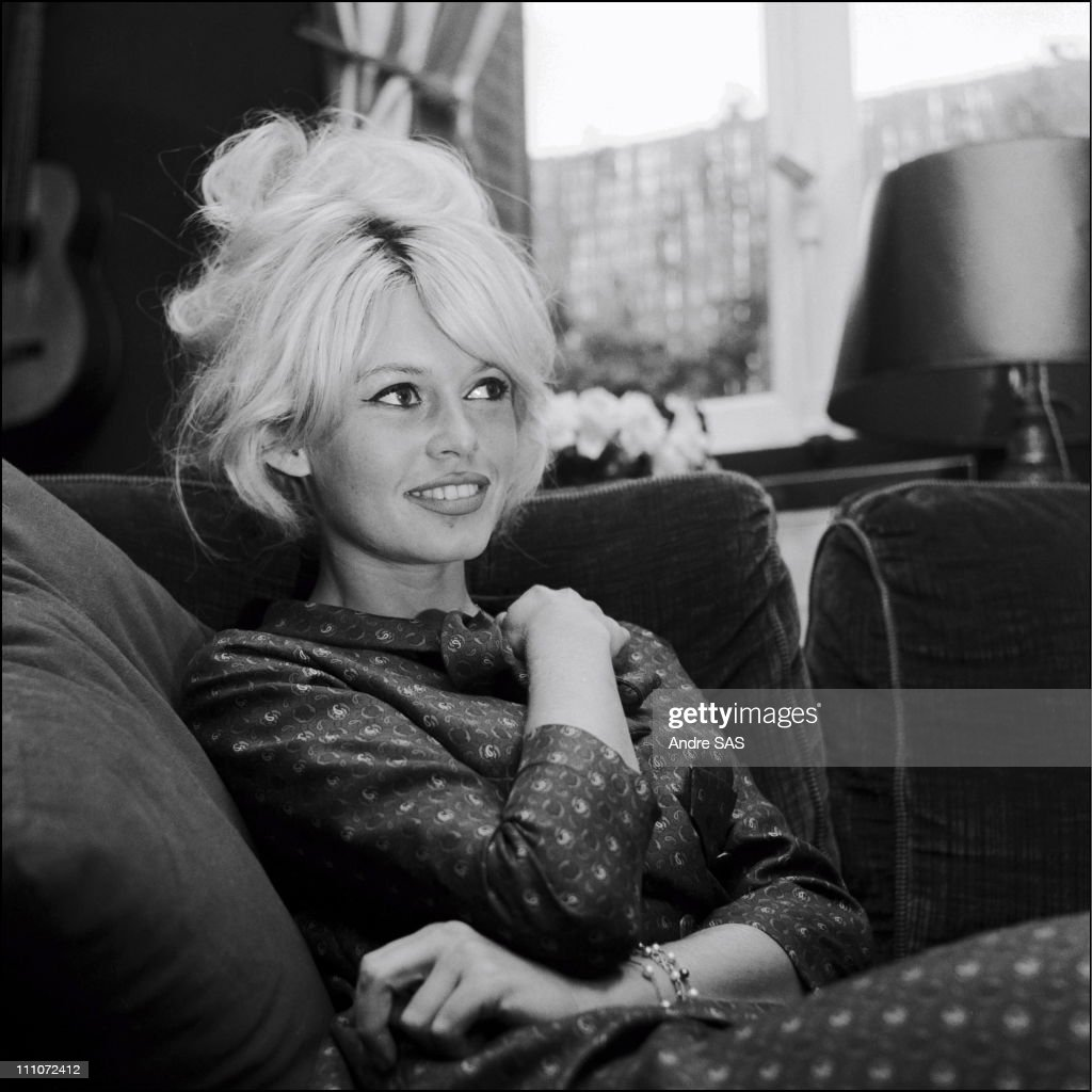 Brigitte Bardot at home In France In January 1962. : News Photo