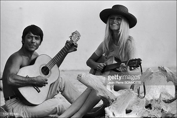 Brigitte Bardot at 'the madrague' In Saint Tropez France In August 1967
