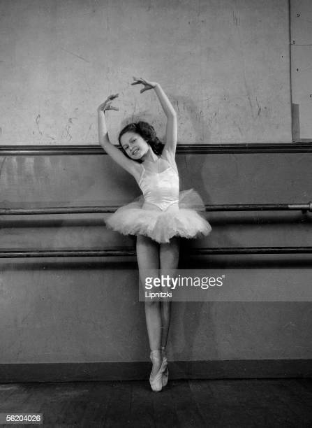 Brigitte Bardot, child, during dance of Mrs Bourgat. Pleyel, about 1946.