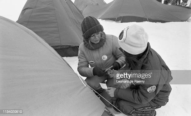 Brigitte Bardot during Greenpeace's campaign against the seal hunt on the Labrador ice floes Canada 1st March 1977