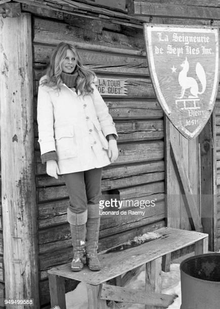 Brigitte Bardot during Greenpeace's campaign against the seal hunt, on the Labrador ice floes, Canada, 1st March 1977