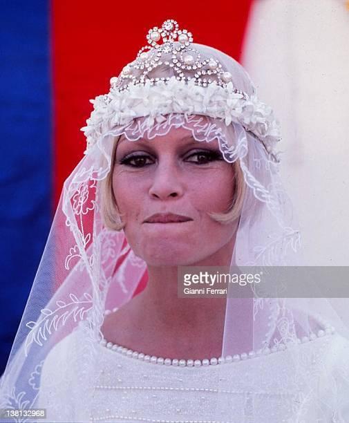 Brigitte Bardot during the filming of the movie 'Boulevard du rhum' Malaga Spain