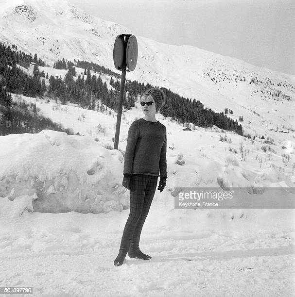 Brigitte Bardot During Vacation In French Ski Resort Of Méribel France on February 9 1963
