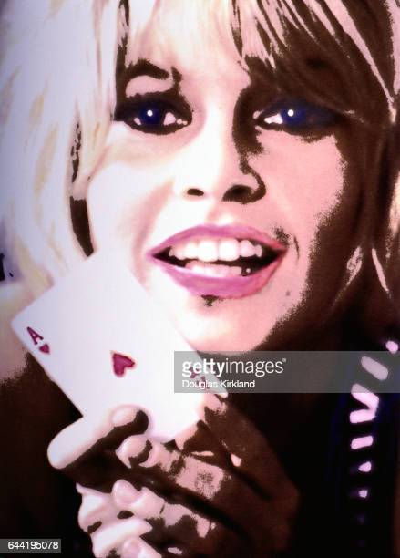 Brigitte Bardot Holding Ace of Hearts