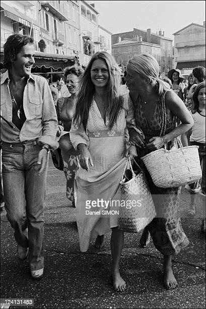 Brigitte Bardot In Saint Tropez, France On July 10, 1974.