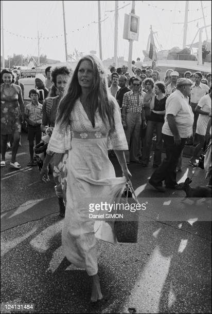 Brigitte Bardot In Saint Tropez France On July 10 1974