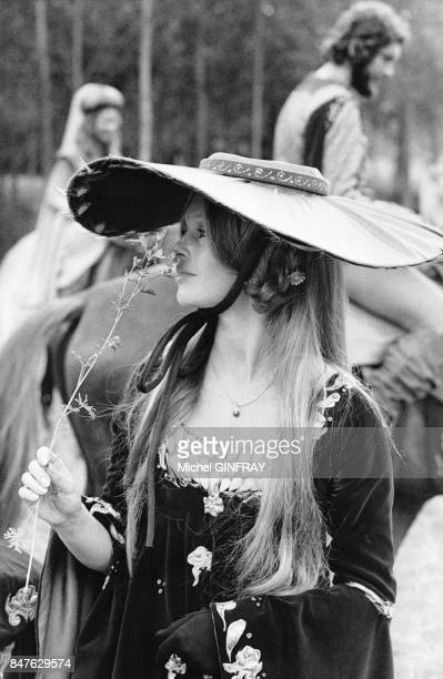Brigitte Bardot joue le role de 'Arabelle' dans le film 'L'Histoire tres bonne et tres joyeuse de Colinot Trousse chemise' realise par Nina Companeez...