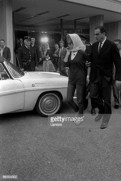 Brigitte Bardot leaves the private clinic after her suicide attempt France October 4 1960