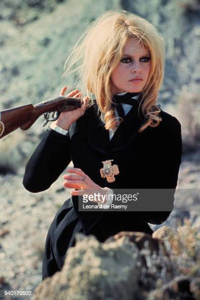 Brigitte Bardot on set of the movie Shalako, directed by Edward Dmytryk