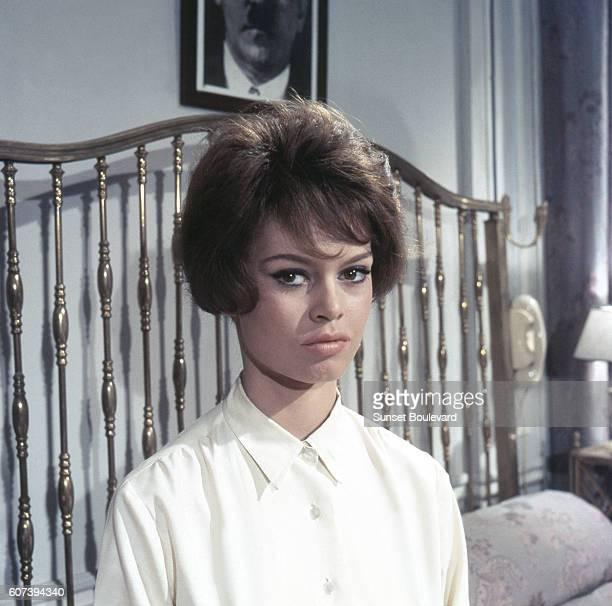 Brigitte Bardot on the set of Babette S'en VaTEn Guerre