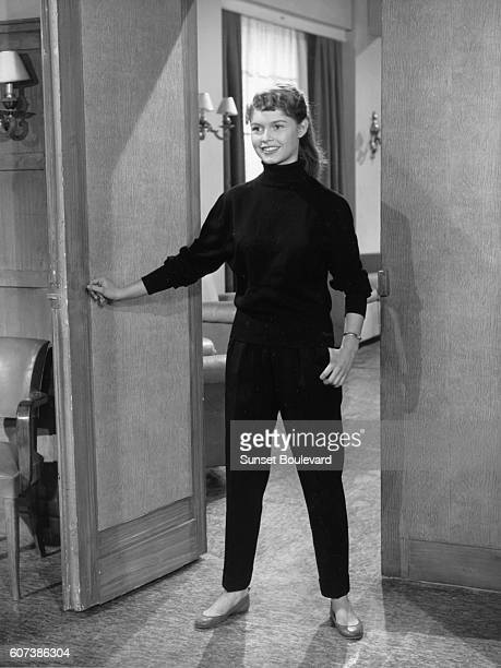 Brigitte Bardot on the set of 'Le portrait de son p}re' by Andre Berthomieu