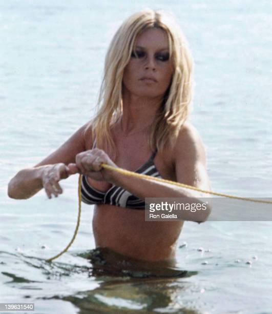 Brigitte Bardot sighted on September 12 1968 at her home in St Tropez France