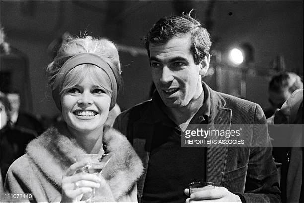 Brigitte Bardot with Roger Vadim in the Filming Of 'Le Repos Du Guerrier' in Italy in January 1962