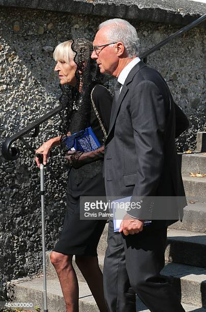 Brigitte Beckenbauer mother of Stephan and first wife of Franz Beckenbauer Franz Beckenbauer during the memorial service for Stephan Beckenbauer at...
