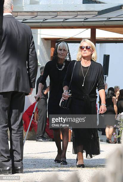 Brigitte Beckenbauer mother of Stephan and first wife of Franz Beckenbauer Heidi Beckenbauer during the memorial service for Stephan Beckenbauer at...