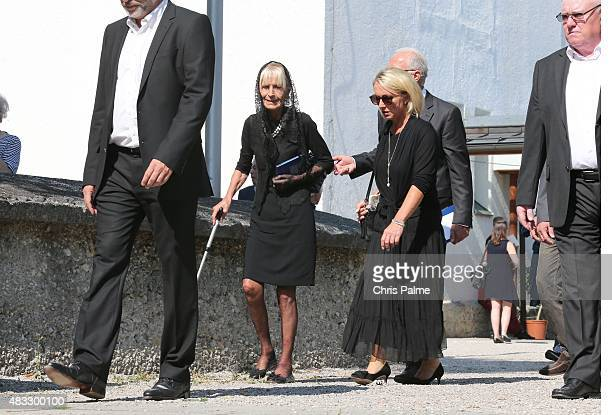 Brigitte Beckenbauer mother of Stephan and first wife of Franz Beckenbauer Heidi Beckenbauer Franz Beckenbauer during the memorial service for...