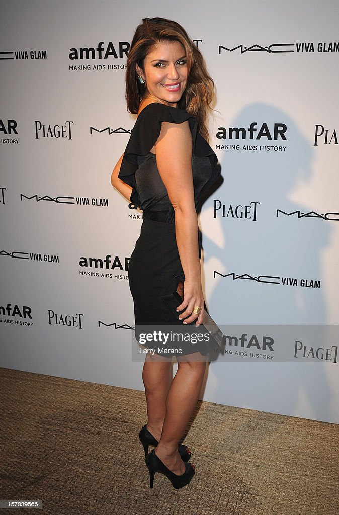 Brigitte Dazza attends the amfAR Inspiration Miami Beach Party at Soho Beach House on December 6, 2012 in Miami Beach, Florida.
